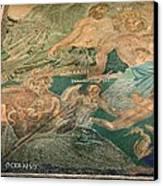 Roman Cosmological Mosaic Canvas Print by Sheila Terry
