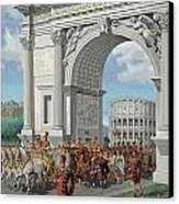 Roman Soldiers Lead Chained Captives Canvas Print by H.M. Herget