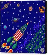 Romney Rocket - Restoring America's Promise Canvas Print by Robert SORENSEN