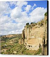 Ronda Cliffs In Andalusia Canvas Print by Artur Bogacki
