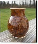 Root Beer Vase Canvas Print by Monika Hood
