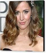 Rose Byrne Wearing A Neil Lane Brooch Canvas Print by Everett