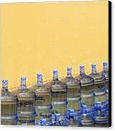 Rows Of Water Jugs Canvas Print by Jeremy Woodhouse