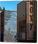 Roxy Theater And Mural Canvas Print by Ed Gleichman