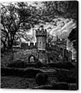 Ruins Of Warwick In Black And White Canvas Print by Laura George