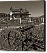 Rural Ontario Sepia Canvas Print by Steve Harrington