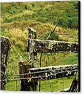 Rustic Fence Canvas Print by Marilyn Wilson