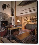 Rustic Lodge Canvas Print by Robert Pisano