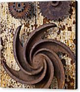 Rusty Gears Canvas Print by Garry Gay