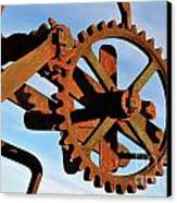 Rusty Gears Mechanism Canvas Print by Sami Sarkis