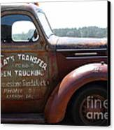 Rusty Old 1935 International Truck . 7d15496 Canvas Print by Wingsdomain Art and Photography