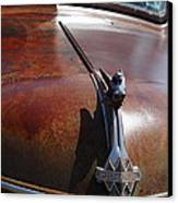 Rusty Old 1935 International Truck Hood Ornament. 7d15506 Canvas Print by Wingsdomain Art and Photography