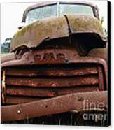 Rusty Old Gmc Truck . 7d8396 Canvas Print by Wingsdomain Art and Photography