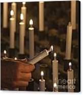 Sacrificial Candles 3 Canvas Print by Heiko Koehrer-Wagner