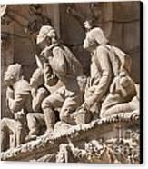 Sagrada Familia Barcelona Nativity Facade Detail Canvas Print by Matthias Hauser