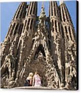 Sagrada Familia Church - Barcelona Spain Canvas Print by Matthias Hauser
