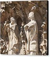 Sagrada Familia Nativity Facade Detail Canvas Print by Matthias Hauser