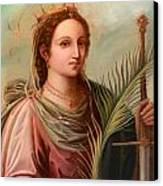 Saint Catherine Of Alexandria Painting Canvas Print by Munir Alawi