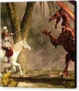 Saint George And The Dragon Canvas Print by Daniel Eskridge