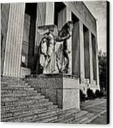 Saint Louis Soldiers Memorial Exterior Black And White Canvas Print by Joshua House