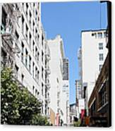 San Francisco - Maiden Lane - Outdoor Lunch At Mocca Cafe - 5d18011 Canvas Print by Wingsdomain Art and Photography