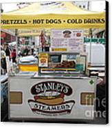 San Francisco - Stanley's Steamers Hot Dog Stand - 5d17929 Canvas Print by Wingsdomain Art and Photography