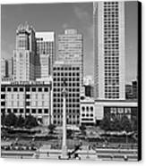 San Francisco - Union Square - 5d17941 - Black And White Canvas Print by Wingsdomain Art and Photography