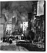 San Francisco Burning After 1906 Canvas Print by Science Source