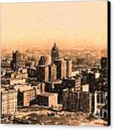 San Francisco Skyline 1909 Showing South Of Market Street Canvas Print by Wingsdomain Art and Photography