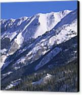 San Juan Mountains Covered In Snow Canvas Print by Tim Fitzharris
