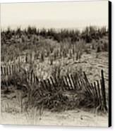 Sand Dune In Sepia Canvas Print by Bill Cannon