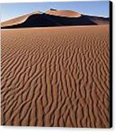Sand Dunes Against Clear Sky Canvas Print by Axiom Photographic