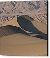 Sand Dunes In Death Valley Canvas Print by Marc Moritsch
