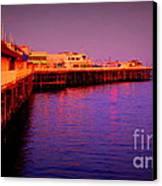 Santa Cruz Wharf Canvas Print by Garnett  Jaeger