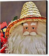 Santa Is A Gardener Canvas Print by Christine Till