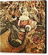 Santa's Vintage Memories Canvas Print by Toni Hopper