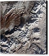 Satellite Image Of Russias Kizimen Canvas Print by Stocktrek Images
