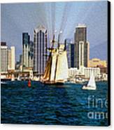 Saturday In San Diego Bay Canvas Print by Cheryl Young