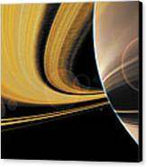 Saturn Glory Canvas Print by Don Dixon