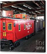 Scale Caboose - Traintown Sonoma California - 5d19240 Canvas Print by Wingsdomain Art and Photography