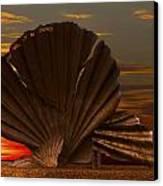 Scallop Sunrise At Aldeburgh Canvas Print by Darren Burroughs
