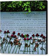 Scatter Roses On My Grave Canvas Print by Steven Ainsworth