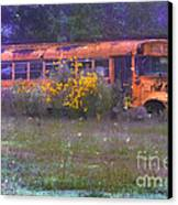 School Bus Out To Pasture Canvas Print by Judi Bagwell