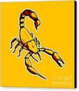 Scorpion Graphic  Canvas Print by Pixel Chimp