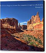 Scripture And Picture Romans 8 37  Canvas Print by Ken Smith