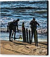 Scuba Divers Canvas Print by Paul Ward