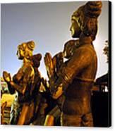 Sculpture Of Women Canvas Print by Sumit Mehndiratta