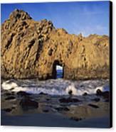 Sea Arch At Pfeiffer Beach Big Sur Canvas Print by Tim Fitzharris