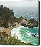 Seascape And Waterfall Canvas Print by Gregory Scott