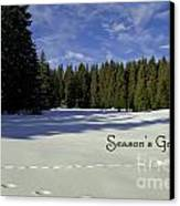 Season's Greetings Austria Europe Canvas Print by Sabine Jacobs